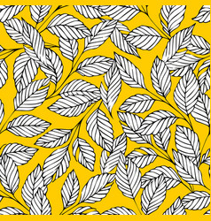 seamless pattern with stylized branches on a vector image