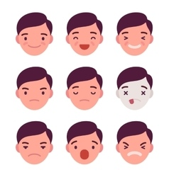 Set of 9 different emotions vector image