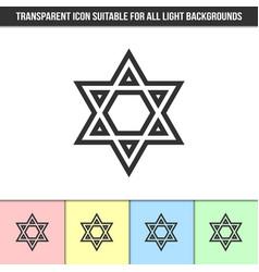 simple outline transparent israeli star david vector image