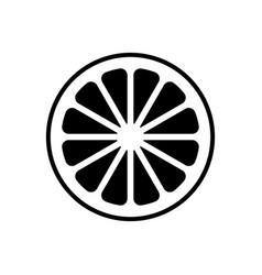 Slice of lemonorange or other citrus fruit icon vector