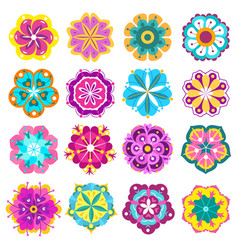 spring flowers icons retro flowers clip art vector image