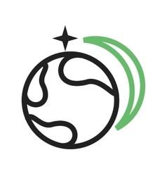 Star Orbitting Earth vector image