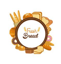 Sticker emblem fresh bread bakery vector