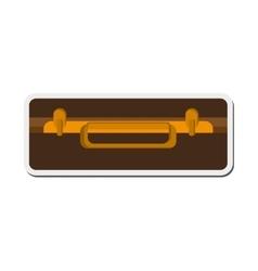 Suitcase topview icon vector