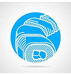 Sushi round icon vector image