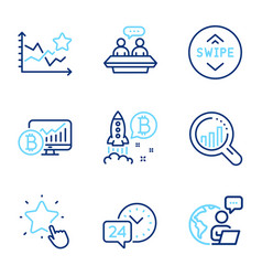 technology icons set included icon as ranking vector image