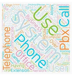 Telephone systems in the office text background vector