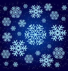 texture on christmas theme snowflakes on a vector image