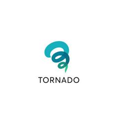 tornado storm abstract logo design template vector image