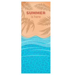Vertical summer card vector