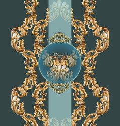 Vintage baroque card background vector