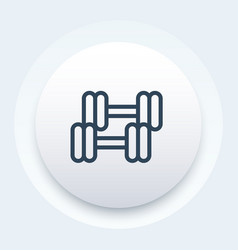 Workout icon pictogram vector