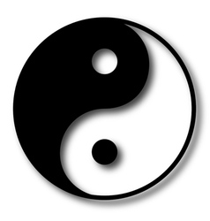 yin yang vector image