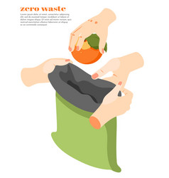 zero waste isometric background vector image