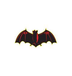 bat spread wing woodcut vector image vector image