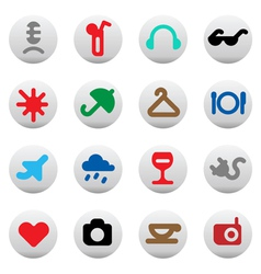 Buttons for leisure and hotel services vector image vector image