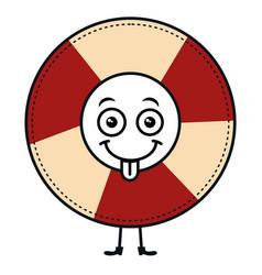 Float lifeguard kawaii character vector