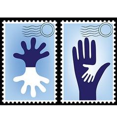 postage stamp postcard vector image vector image