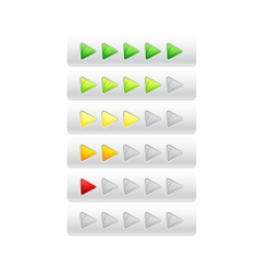 rating from color triangles vector image vector image