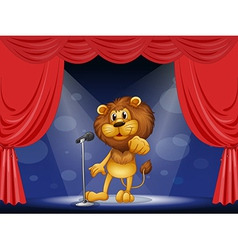 A lion standing in the limelight vector image vector image