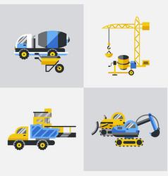digital yellow construction vector image