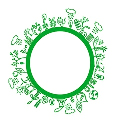 Green environment symbols vector image
