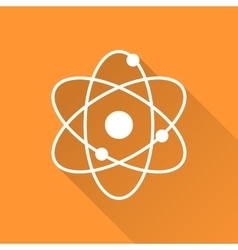 Atomic model icon vector image vector image
