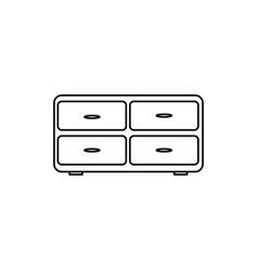 cupboard icon vector image