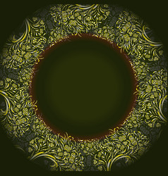 Dark green template for greeting card vector