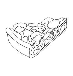vegetarian vegetable piepie of vegetables without vector image vector image