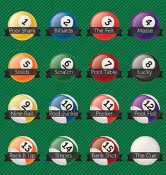 Billiard Balls Banners vector image vector image