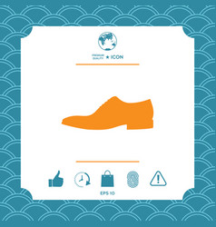 men s shoe icon menu item in the web design vector image