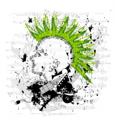 portrait of a punk youth vector image vector image