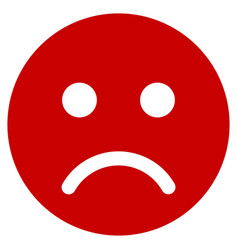 Sad mood smiley flat icon vector
