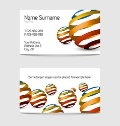 Set of modern business card templates vector image vector image