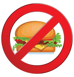 Sign forbidden fast food vector image