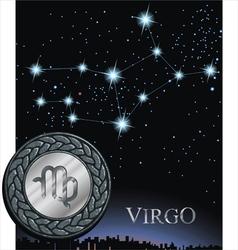 virgo zodiac sign virgin vector image vector image