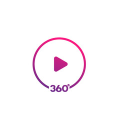 360 degrees video icon vector image