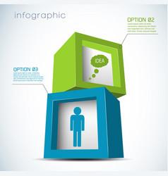 3d cubes infographics vector