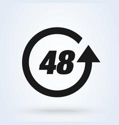48 hours modern icon design vector