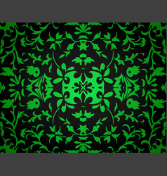 Abstract damask background vector