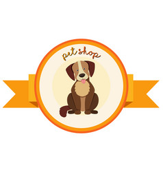 banner design for pet shop with cute dog vector image