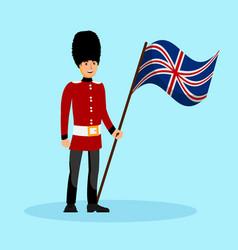 beefeater england queen guard vector image