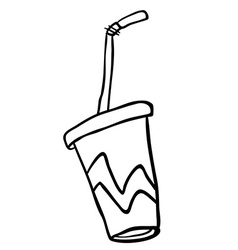 black and white soda vector image