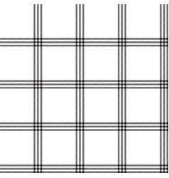 Black white color plaid seamless pattern vector
