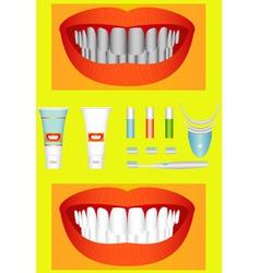 Bleaching of teeth vector