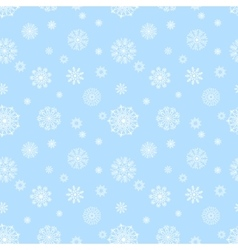 Blue seamless pattern with snowflakes to christmas vector