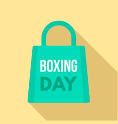 boxing day shop bag logo set flat style vector image