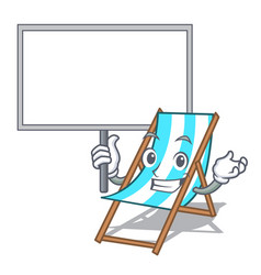 Bring board beach chair character cartoon vector