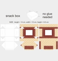 Brown Snack Box 12x14x65cm vector